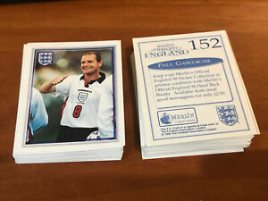 1998 Merlin Official England 98 Football Stickers Pick The Ones You Need (x10)