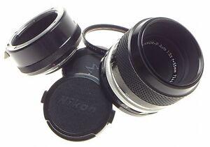 NIKON MICRO-NIKKOR-P AUTO 1:3.5 f=55mm SLR CAMERA LENS ADAPTER M2 FILTER 3.5/55