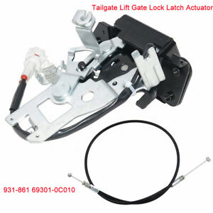 Car Tailgate Lift Gate Latch Lock Actuator W/ Cable Harness For Toyota 2001-2007