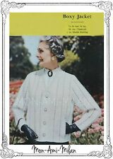 "Vintage Knitting Pattern • LADIES CLASSIC BOXY JACKET • CARDIGAN 36"" • CHUNKY DK"