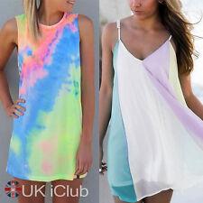 Chiffon Crew Neck Sundress Plus Size for Women