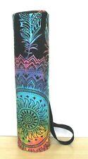 4 PC Ensemble Mandala Cravate Teinture Yoga Sac Gym Tapis Porte Sacs avec Sangle