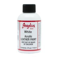 Angelus White acrylic leather paint / Dye 4 oz bottle NEW For Shoes Bags Boots