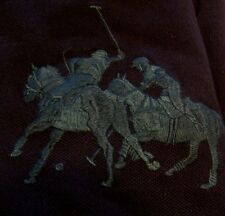 New RALPH LAUREN POLO long sleeve classic shirt BLACK Medium Dual match Big Pony