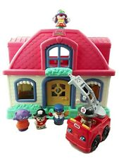 Fisher Price Little People Happy Sounds Sweet Home Doll House Pink Fire Engine