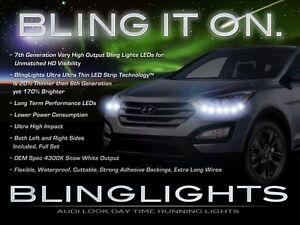 LED DRL Head Light Strips Daytime Running Lamps for Hyundai Santa Fe (all years)