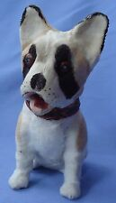 ANTIQUE FRENCH BULLDOG SQUEAKER TOY FRENCH FASHION DOLL GERMANY 7""