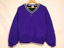 Nike VTG royal blue pullover lined wind jacket / womens L 12-14 / excellent /b42
