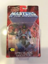 New & Sealed Mattel Masters of the Universe Spin Blade Skeletor w/ Sticker