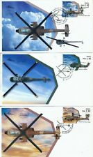 ISRAEL 2020 AIR FORCE HELICOPTERS ALL 9 LABELS ISSUED FDC's SEE 3 SCANS