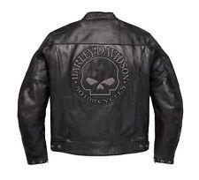 Harley-Davidson Reflective Skull Leder Jacke Gr. XL Herren Motorrad Lederjacke