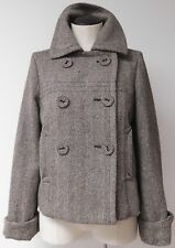 ADOLFO DOMINGUEZ WOMEN'S DOUBLE BREASTED CROPPED PEA COAT STYLE JACKET SZ 40 - 6