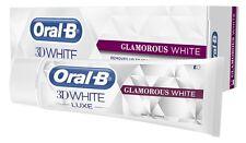 Oral-B 3D White Luxe GLAMOROUS WHITE Enamel Safe Stains Off Whitening Toothpaste