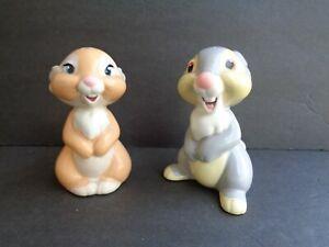 "Walt Disney Thumper & Girlfriend Salt & Pepper 3.5"" Shakers Limited Edition 500"