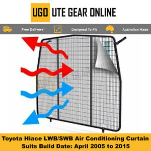 Toyota Hiace LWB / SWB Air Conditioning Curtain  April 2005 to 2015 Hi Ace