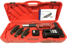 "Rothenberger Romax Compact Crimping Tool Charger 2x Battery & 1/2"" 3/4"" 1"" Jaws"