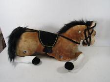 Kinbor Baby Kids Toy Plush Wooden Rocking Horse Boy Riding Rocker (Only Horse)
