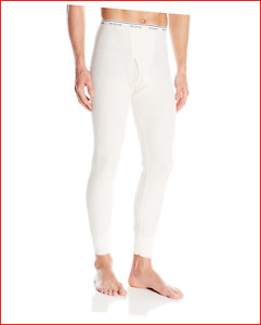 Fruit of the Loom Men's Classics Midweight Waffle Thermal Underwear Bottoms,