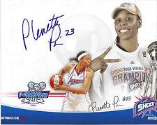 Plenette Pierson Signed 8 x 10 Photo Tulsa Shock Wnba Basketball Free Shipping