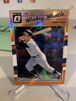 2017 Donruss Optic Orange Refractor #165 Mickey Mantle /199 - New York Yankees