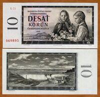 Czechoslovakia, 10 Korun, 1960, P-88 (88b), 60 years old, UNC > Children