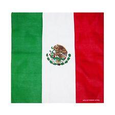 "Mexico Mexcian Bandana Doo Do Rag 21"" x 21"" Biker Head Wrap"