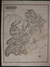 1824 LARGE DATED MAP SELKIRKSHIRE JOHN THOMSON ATLAS of SCOTLAND SELKIRK COLOUR