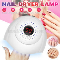 36W 12 LEDs Nail Dryer UV Light Lamp Curing Gel Nail Polish Professional Timer