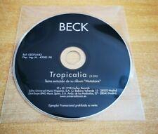 BECK Tropicalia CD SINGLE PROMO 1998 ESPAÑA MUY RARO SIN PORTADA COLECCIONISTAS