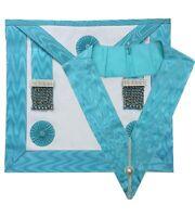 Masonic regalia Master mason Apron Leather, Master mason Collar