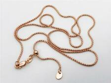 "14K 22"" Inch Solid Rose Gold ADJUSTABLE Popcorn Necklace Chain 1.3mm"