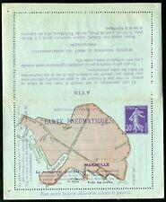 France pneumatic postal stationery l/card 1910 Marseille 30c RK65 un (cat €350)