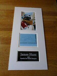 James Hunt Genuine Signed Authentic Autograph - UACC / AFTAL.
