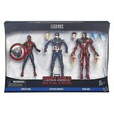 Civil War Marvel Legends 3-Pack Captain America, Iron Man & Spider-Man