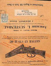 Belgium Eusils En Magasin Double Barrel Shot Gun Cartouches Advertising Postcard