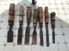 Collection Of Vintage Woodworking Chisels
