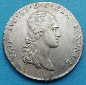 Sachsen albertinische Linie Friedrich August I. Taler 1810 SGH Dresden ss-vz/vz
