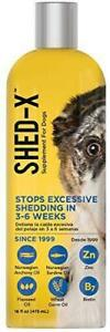 Shed-X Dermaplex Liquid Daily Supplement for Dogs – 100% Natural – Eliminate