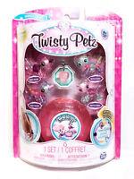 Twisty Petz Babies 4 Pack Unicorn and Panda Bracelet Set + Pink Gem Case New