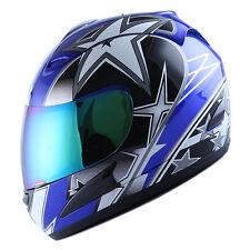 MOTORCYCLE STREET BIKE FULL FACE HELMET BLACK BLUE GREEN RED PINK ORANGE YELLOW