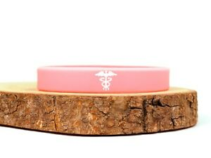 Medical Alert Hidden Message Wristband Silicone ID Band Personalized Customized