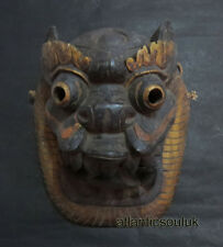 M517 Nepalese Craft antique Dragon Wall Hanging Home Decor Ritual WOODEN MASK