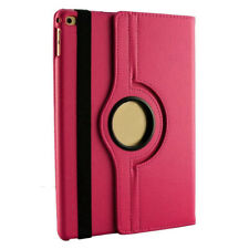 360 Degree Rotating Flip Pu Leather Case Cover For iPad Mini 1/2/3 - Hot Pink