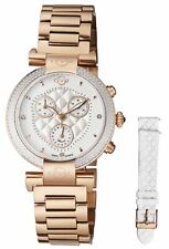 GV2 by Gevril Women's 1552 Berletta Chrono Diamonds Rose-gold IP Steel Watch