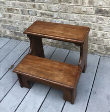 "15"" Tall Step Foot Stool Solid Wood Kitchen Bed Stepping Thomasville  Furniture"