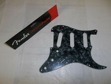 GENUINE FENDER STRAT BLACK PEARL 4-PLY PICKGUARD 11-HOLE STRATOCASTER ~ NEW