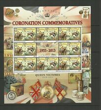 ASCENSION SG1162-1166 60TH ANNIVERSARY OF THE CORONATION SHEETLETS SET MNH