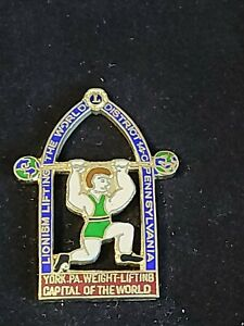 Vintage York Pa Barbell Weightlifting Capitol Lions Club Pin