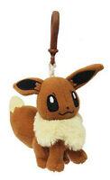 Pokemon 3'' Eevee Plush Bag Clip Key Chain NEW