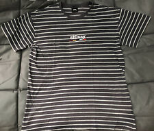 Stussy Striped Mens Embrioded Logo T Shirt - Size L - Grey